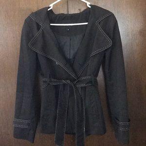 Nine West short trench coat w/hood